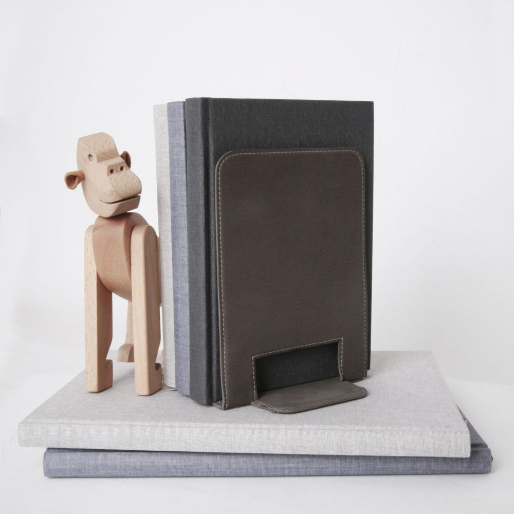 bookend-leather-and-monkey