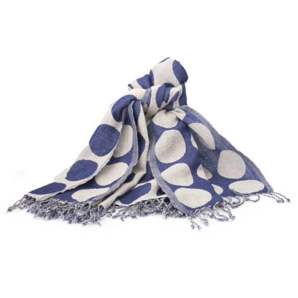 Shawl-dots-dark-blue